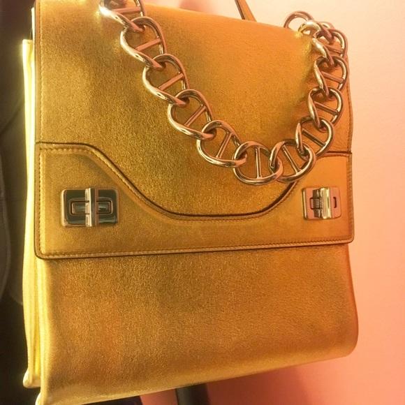 51282fbe1af519 Prada Bags | Euc Gold Chain Handbag 1950 Like New | Poshmark
